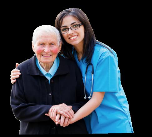nurse and an old man